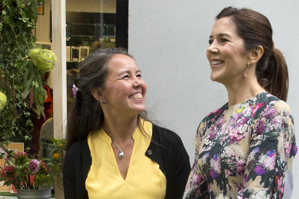 Kronprinsesse Mary og Sanne Sløk